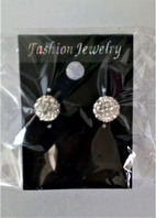 Glitter ball stud earrings (Code 3286)